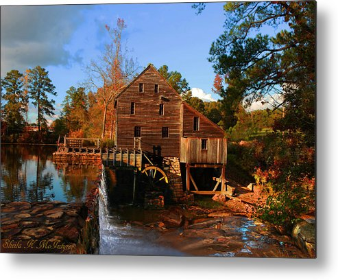 Mill Metal Print featuring the photograph The Old Yates Mill by Sheila Kay McIntyre