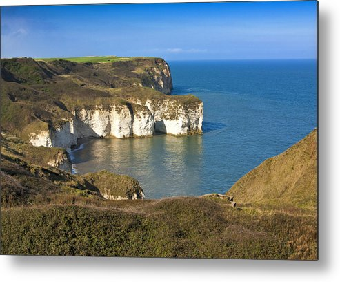 Flamborough Metal Print featuring the photograph Thornwick Bay North Yorkshire by Trevor Kersley