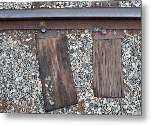 Railroad Metal Print featuring the photograph Ties by Dan Holm