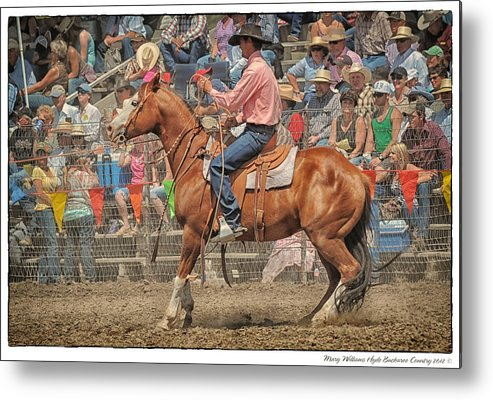 Tj Thompson Metal Print featuring the photograph Tj Thompson Jordan Valley 2012 by Mary Williams Hyde