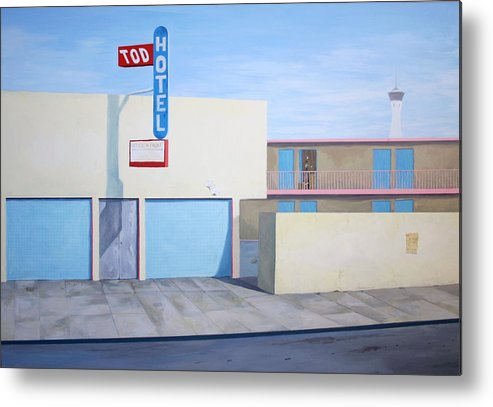City Metal Print featuring the painting Tod Motor Hotel by Lukasz Ratajczyk