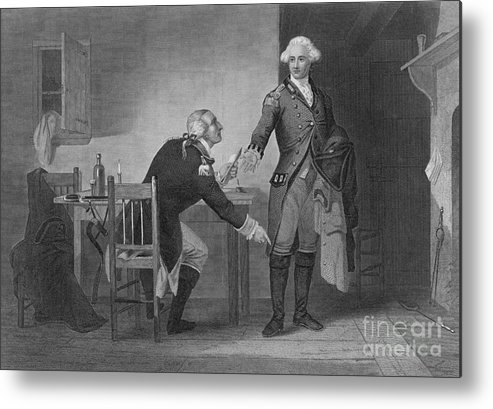 History Metal Print featuring the photograph Treason Of Benedict Arnold, 1780 by Photo Researchers