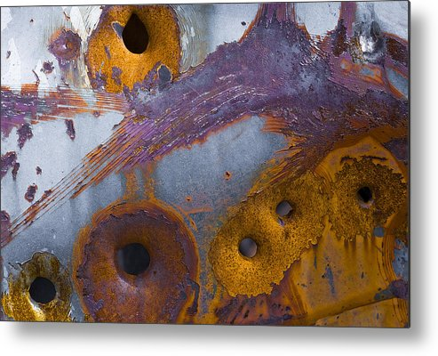 Abstract Metal Print featuring the photograph Vehicle.4652 by Gary LaComa