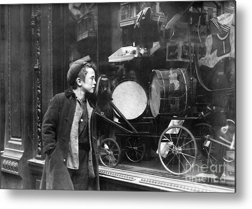 20th Century Metal Print featuring the photograph Window Display, C1910 by Granger