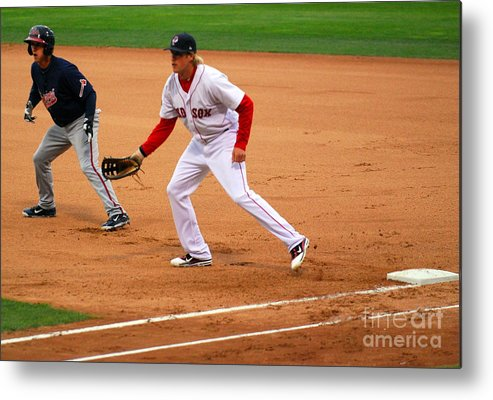 Pawtucket Red Sox Metal Print featuring the photograph 018 by Carol Christopher