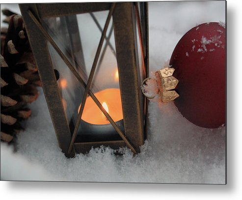Abstract Metal Print featuring the photograph Christmas Decoration by Didart Collection