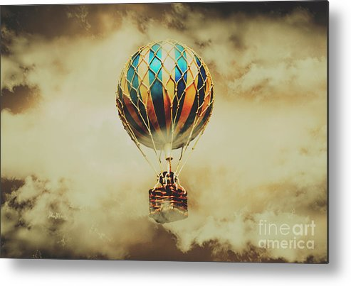 Vintage Metal Print featuring the photograph Fantasy Flights by Jorgo Photography - Wall Art Gallery