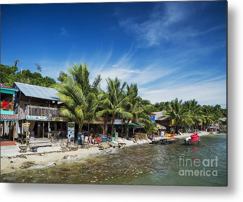 Asia Metal Print featuring the photograph Polluted Dirty Beach With Garbage Rubbish In Koh Rong Island Cam by Jacek Malipan