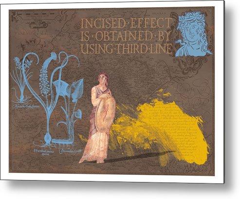 Roamn Metal Print featuring the digital art Roman Holiday V by Alfred Degens