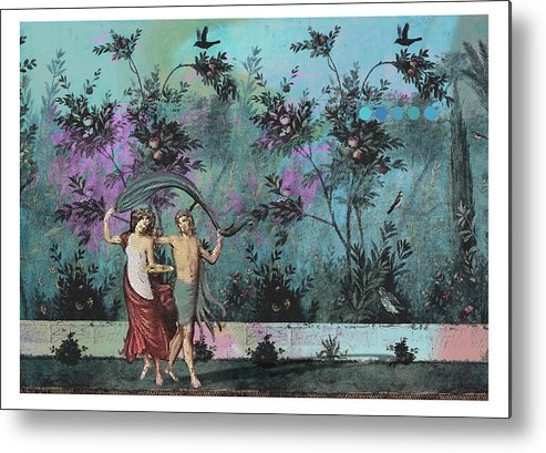 Roman Metal Print featuring the digital art Roman Holiday X by Alfred Degens