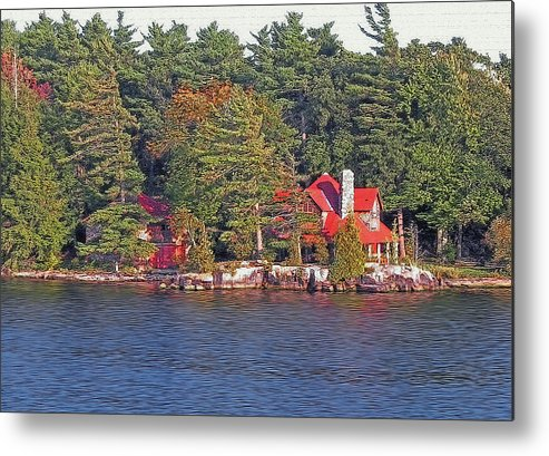 1000 Islands Metal Print featuring the photograph 1000 Island Scenes 17 - Skull And Bones Society - Deer Island by Steve Ohlsen
