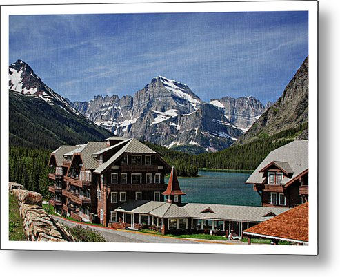 Many Metal Print featuring the photograph Many Glacier Hotel by Margie Wildblood