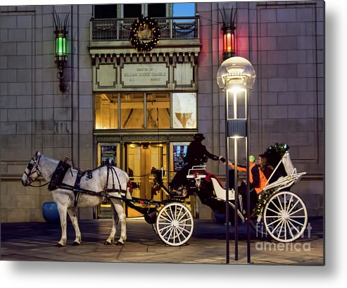 Horse Metal Print featuring the photograph A Holiday Ride by Steven Parker