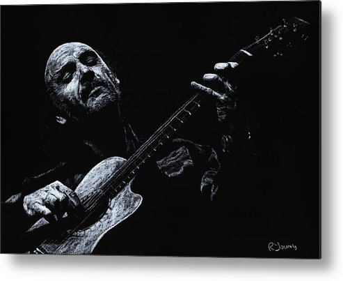 Musician Metal Print featuring the pastel Acoustic Serenade by Richard Young