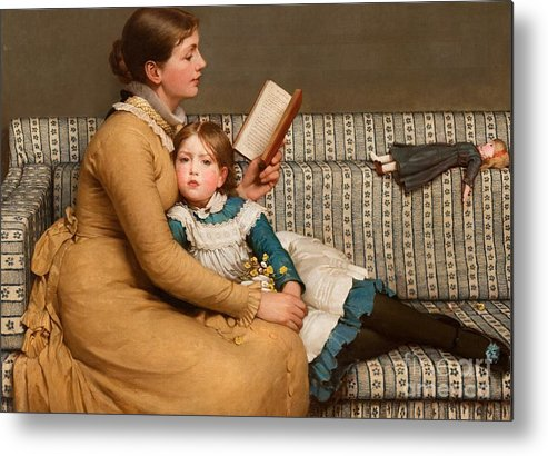 Alice In Wonderland Metal Print featuring the painting Alice In Wonderland by George Dunlop Leslie