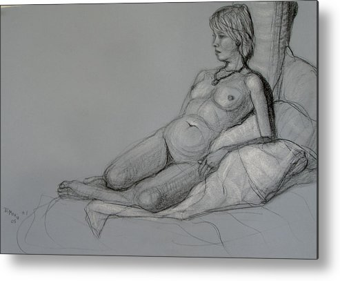 Realism Metal Print featuring the drawing Aroona 2 by Donelli DiMaria