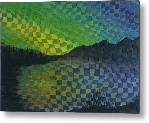 Landscape Metal Print featuring the painting Aurora by Linda L Doucette