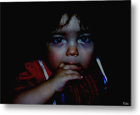 Child Metal Print featuring the photograph Baby Girl by Ruben Flanagan
