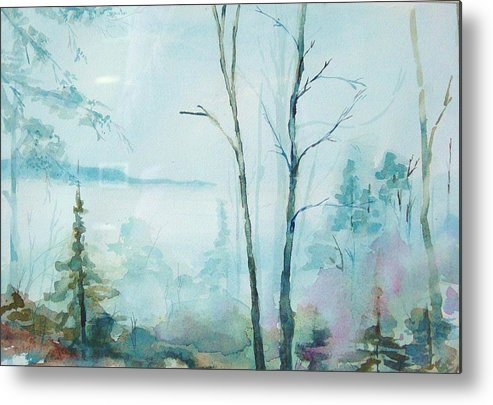 Mountain Landscape Metal Print featuring the painting Big Hill Morning by Kris Dixon