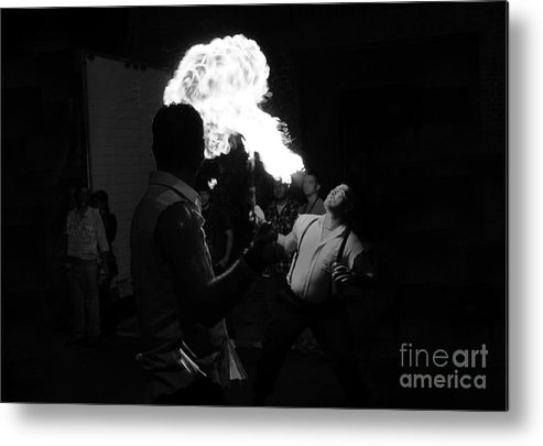 Fire Metal Print featuring the photograph Blowing Fire by David Lee Thompson