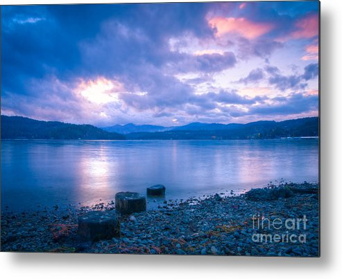 Cda Metal Print featuring the photograph Blue Evening by Idaho Scenic Images Linda Lantzy