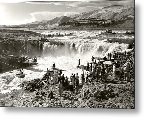 Metal Print featuring the photograph Celilo Falls by Unknown
