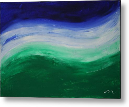Fine Paintings Metal Print featuring the painting Chakra Wave 1 by Malik Jaffer