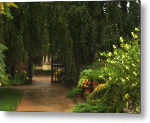 Landscape Metal Print featuring the photograph Chicago Botanical Gardens by Dawn Young