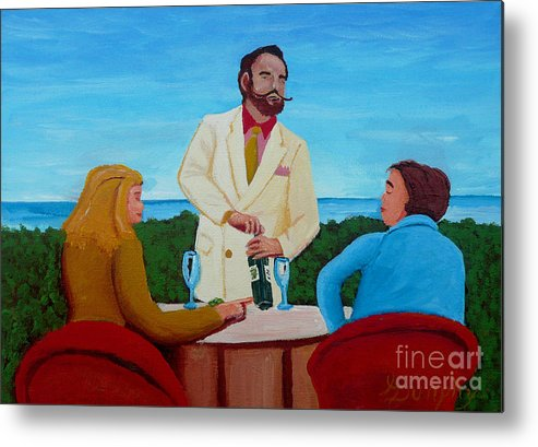Wine Metal Print featuring the painting Choosing The Wine by Anthony Dunphy
