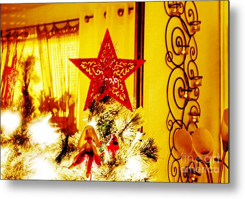 Christmas Metal Print featuring the photograph Christmas Star by Don Baker