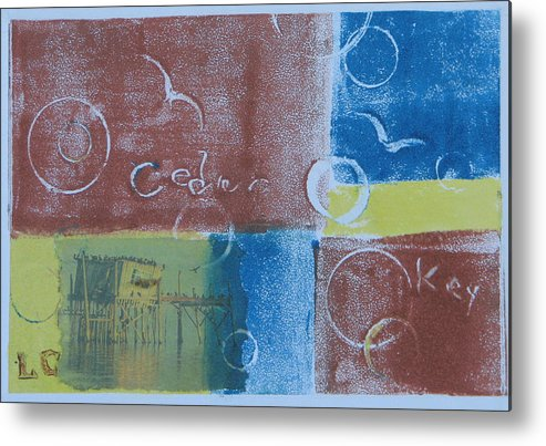 Printmaking Metal Print featuring the painting Circling The Key by Libby Cagle