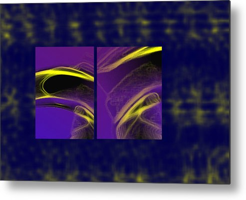 Abstract Metal Print featuring the digital art Cobra by Steve Karol