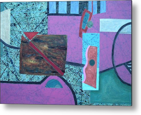Metal Print featuring the painting Composition I 05 -2- by Maria Parmo