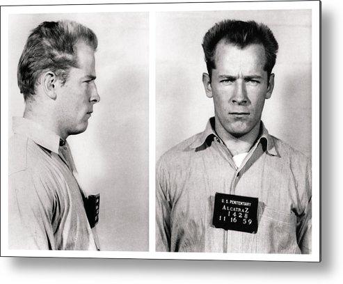 james Whitey Bulger Metal Print featuring the photograph Convict No. 1428 - Whitey Bulger - Alcatraz 1959 by Daniel Hagerman