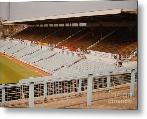 Coventry City Metal Print featuring the photograph Coventry City - Highfield Road - North Side Thackhall Street Stand 2 - September 1969 by Legendary Football Grounds