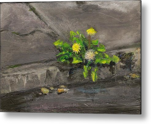 Flower Metal Print featuring the painting Curb Appeal Tenacious D Series by Colleen Birch