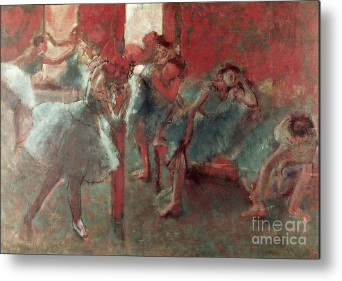 Dancers Metal Print featuring the painting Dancers At Rehearsal by Edgar Degas