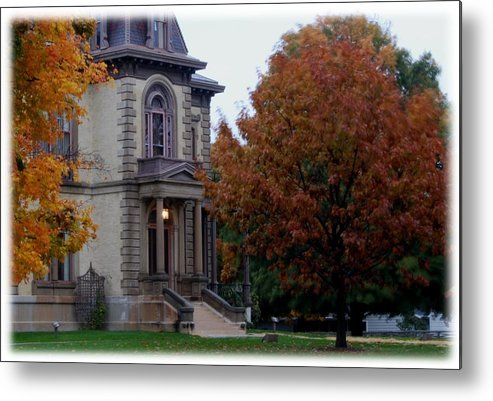 David Davis Mansion Metal Print featuring the photograph Davis Mansion by Abraham Adams Photography