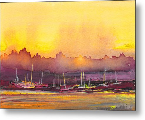 Landscapes Metal Print featuring the painting Dawn 10 by Miki De Goodaboom