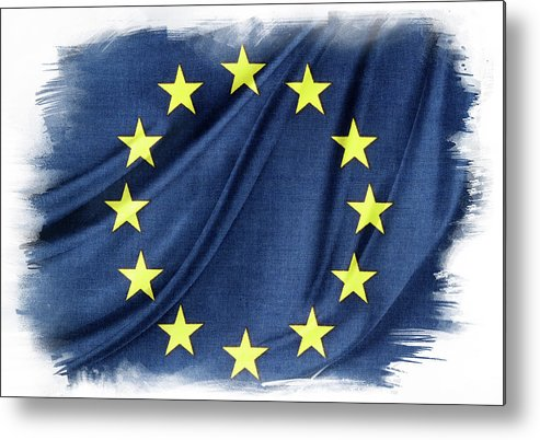 Flag Metal Print featuring the photograph Eu Flag by Les Cunliffe