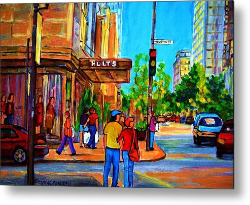 Holt Renfrew Metal Print featuring the painting Fashionable Holt Renfrew by Carole Spandau