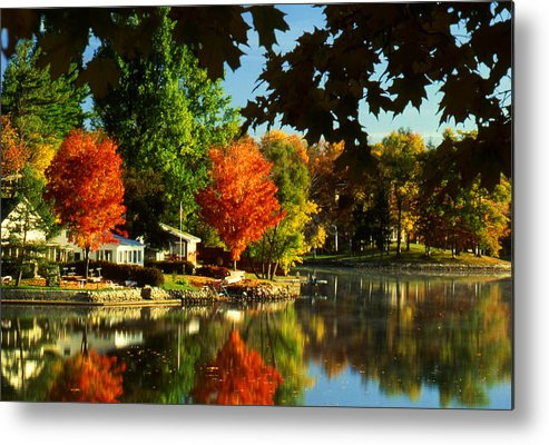 Fall Metal Print featuring the photograph Flaming Maples by Roger Soule