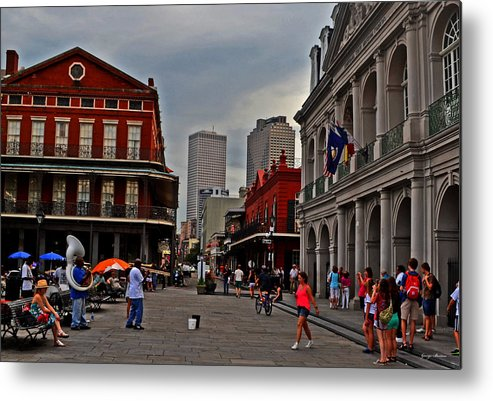 French Quarter Metal Print featuring the photograph French Quarter Band by George Bostian