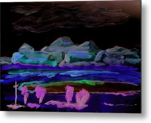 Kevin Callahan Metal Print featuring the painting Gallup New Mexico by Kevin Callahan
