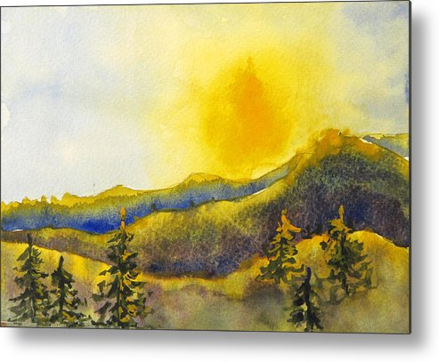 Sunset Metal Print featuring the painting Gassaway Sunset by Libby Cagle