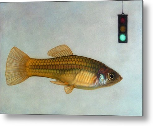 Fish Metal Print featuring the painting Go Fish by James W Johnson