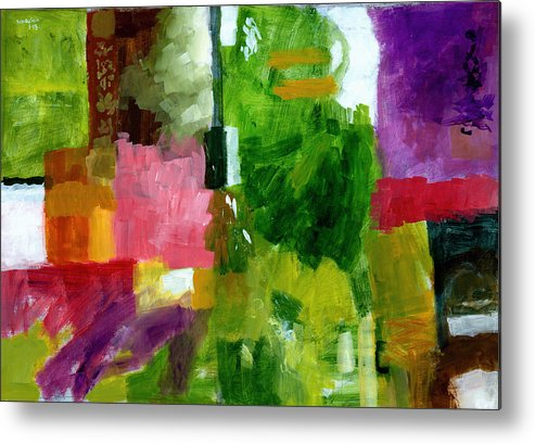 Abstract Metal Print featuring the painting Good Company by Douglas Simonson