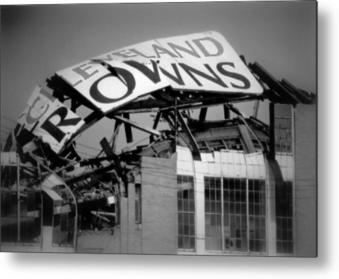 Cleveland Metal Print featuring the photograph Goodbye Cleveland Stadium by Kenneth Krolikowski