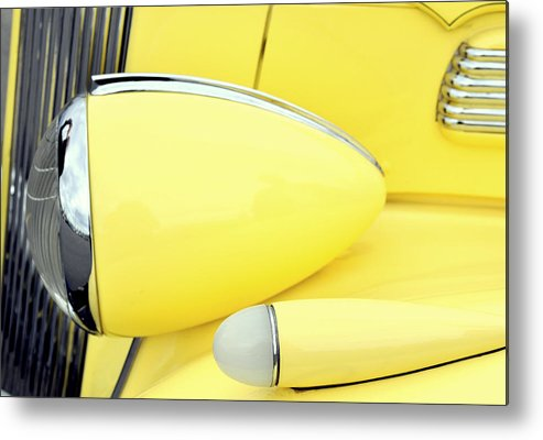 Classic Cars Metal Print featuring the photograph Headlights And Parkinglights by Lynn Bawden