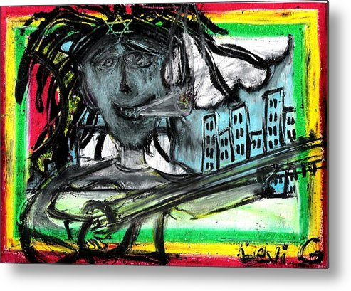Star Of Jacob Metal Print featuring the pastel Hey Mon by Levi Glassrock